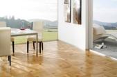 TEKA Wood Design raštuoti parketo skydai Concord2 ąžuolas su merbau, lakuotas 14x390x390 mm