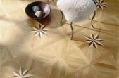 TEKA Wood Design raštuoti parketo skydai Royal Star ąžuolas su uosiu ir riešutmedžiu, lakuotas 14x390x390 mm