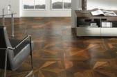 TEKA Wood Design raštuoti parketo skydai Imperial termiškai apdorotas ąžuolas, alyvuotas UV alyva, šiurkštintas 14x390x390 mm